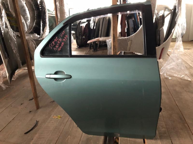Дверь Toyota Belta SCP92 2SZFE задняя правая