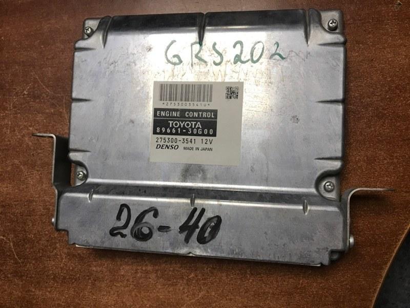 Блок управления efi Toyota Crown GRS202 3GRFSE