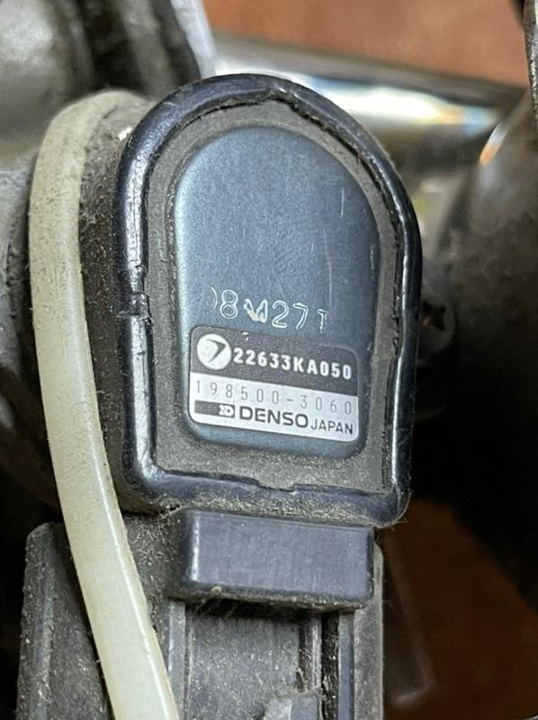 Дроссельная заслонка Subaru Vivio KK3 EN07Y 1995