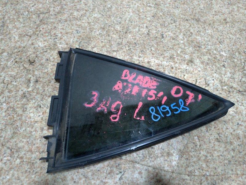 Стекло собачника Toyota Blade AZE154 2AZ-FE 2007 заднее левое