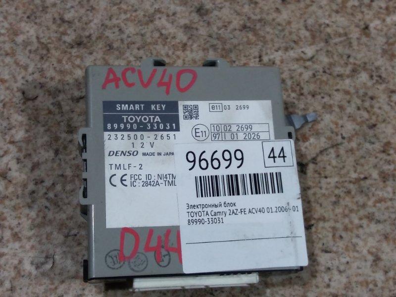 Электронный блок Toyota Camry ACV40 2AZ-FE 01.2006