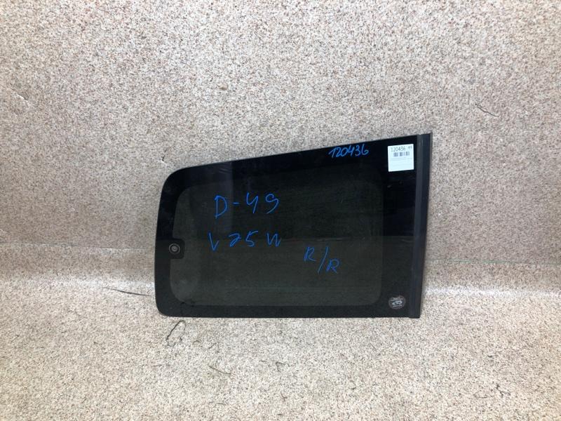 Стекло собачника Mitsubishi Pajero V75W 6G74 2000 заднее правое