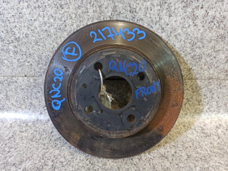 Тормозной диск Toyota Bb QNC20 передний