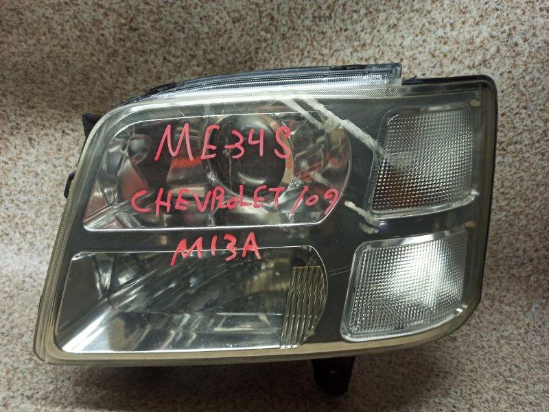 Фара Suzuki Chevrolet Mw ME34S 2009 передняя левая