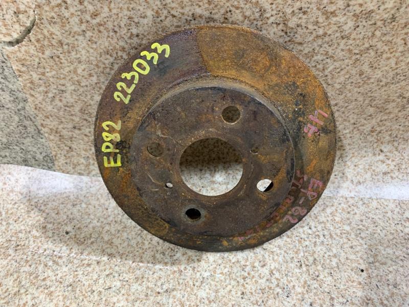 Тормозной диск Toyota Starlet EP82 передний левый