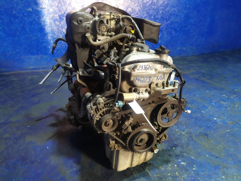 Двигатель Nissan Moco MG22S K6A 2008
