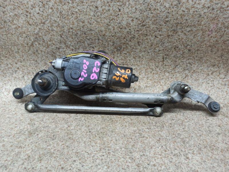 Мотор дворников Nissan Serena C26 2012 передний