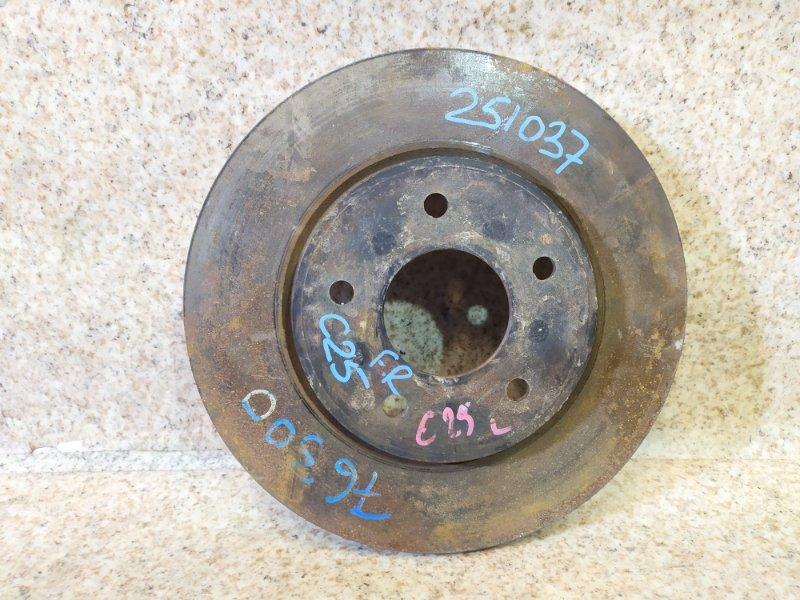 Тормозной диск Nissan Serena C25 передний правый