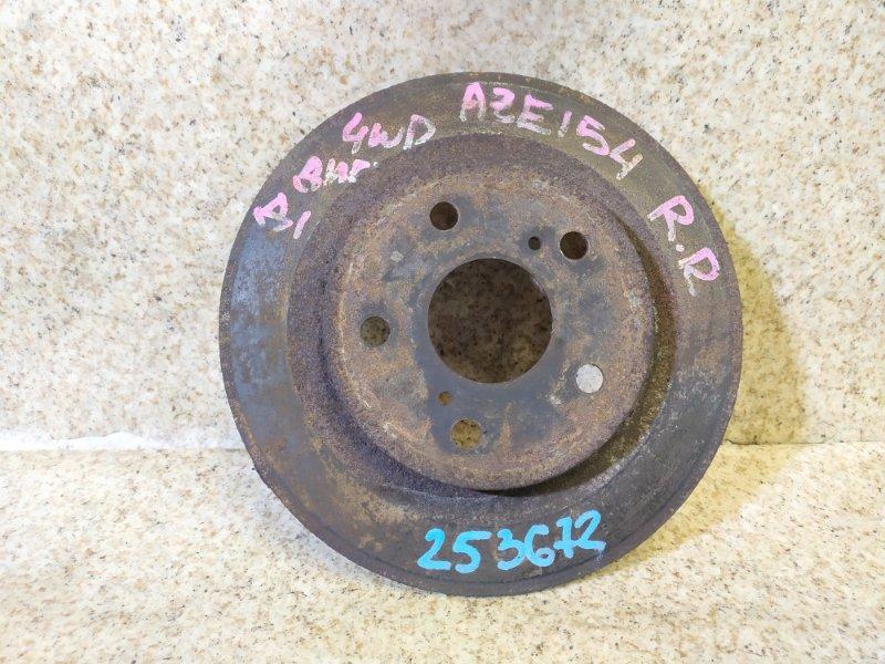 Тормозной диск Toyota Blade AZE154 задний правый