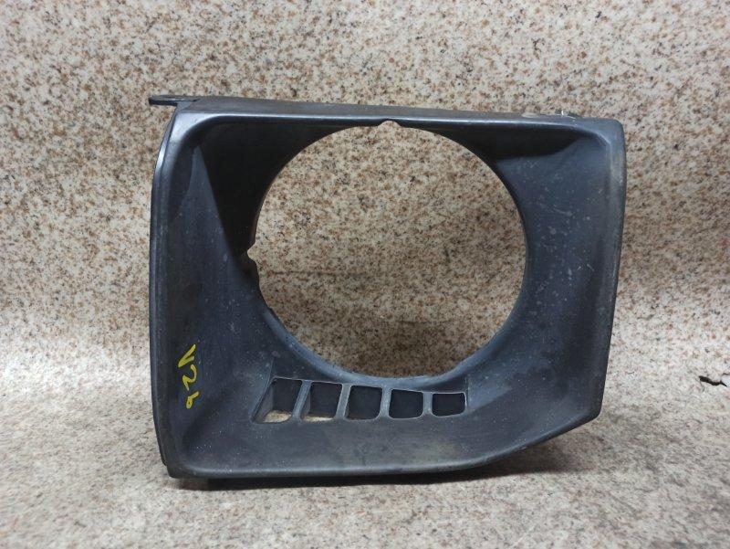 Очки на фары Mitsubishi Pajero V26 передние левые