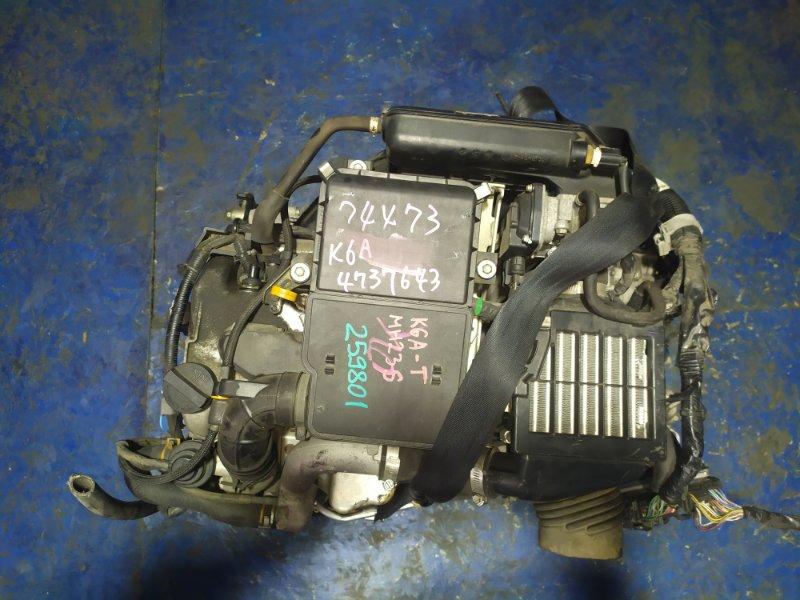 Двигатель Suzuki Wagon R MH23S K6A-T 2009