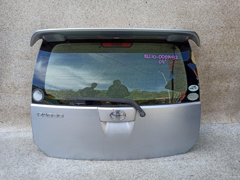 Дверь задняя Toyota Passo KGC10 2004 задняя