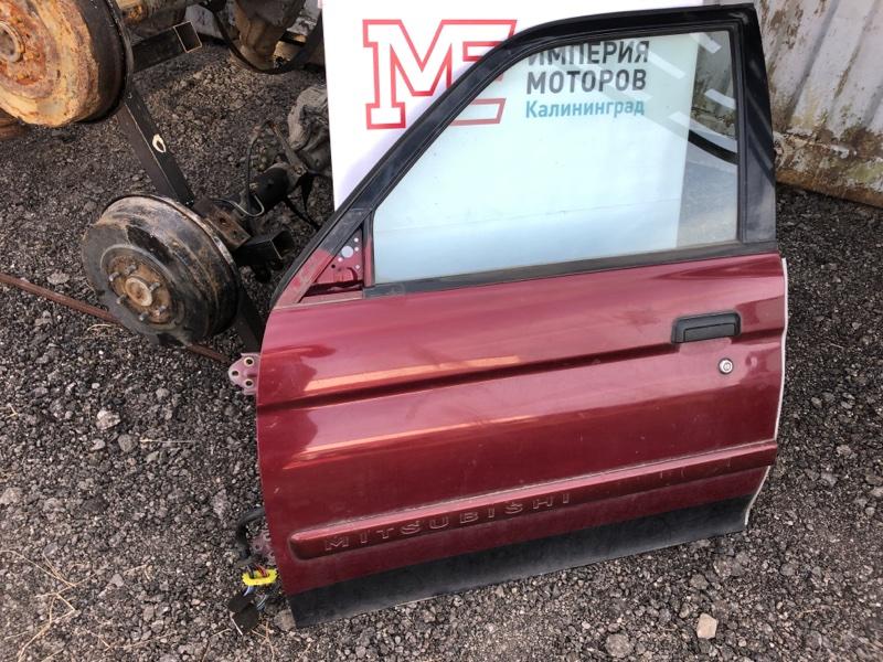 Дверь Mitsubishi Montero Sport K9 6G74 2002 передняя левая