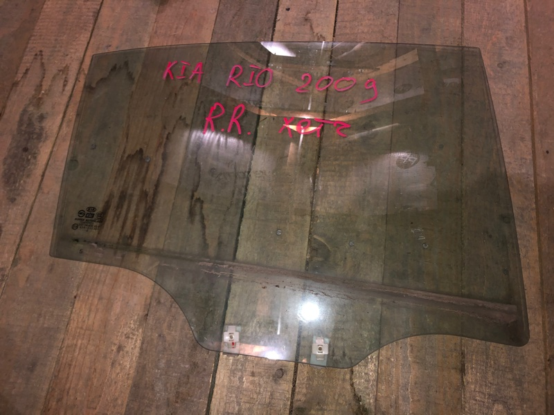 Стекло двери Kia Rio 2 ХЭТЧБЕК G4EE 2010 заднее правое