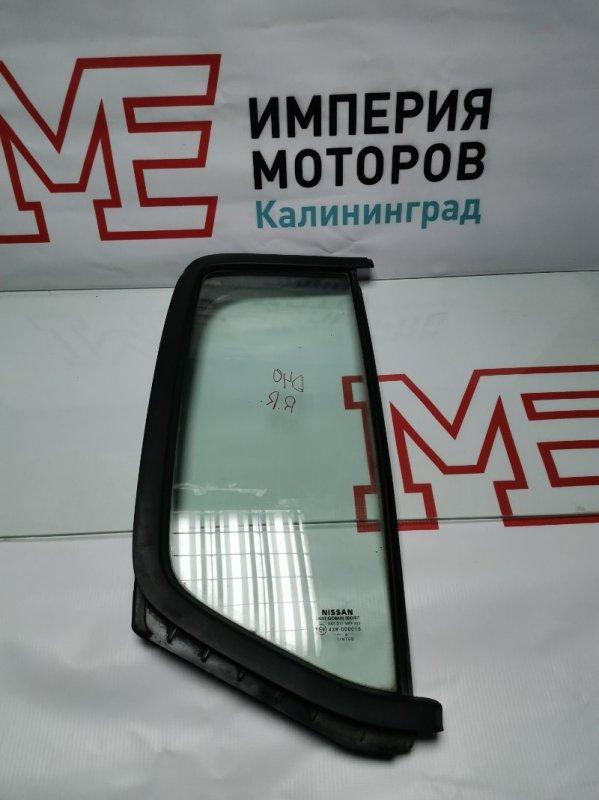 Форточка двери Nissan Navara D40 YD25DDTI 2008 задняя