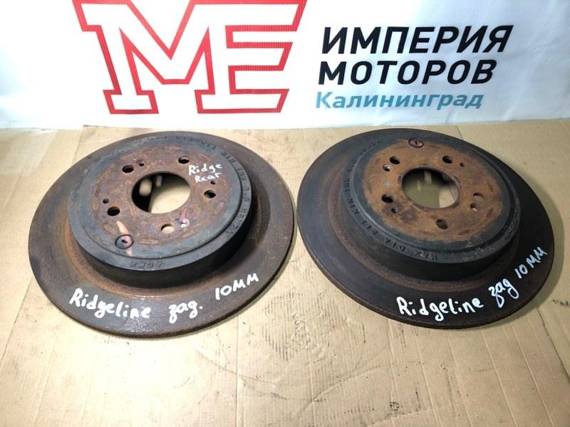 Тормозной диск Honda Ridgeline J35Z5 2012 задний