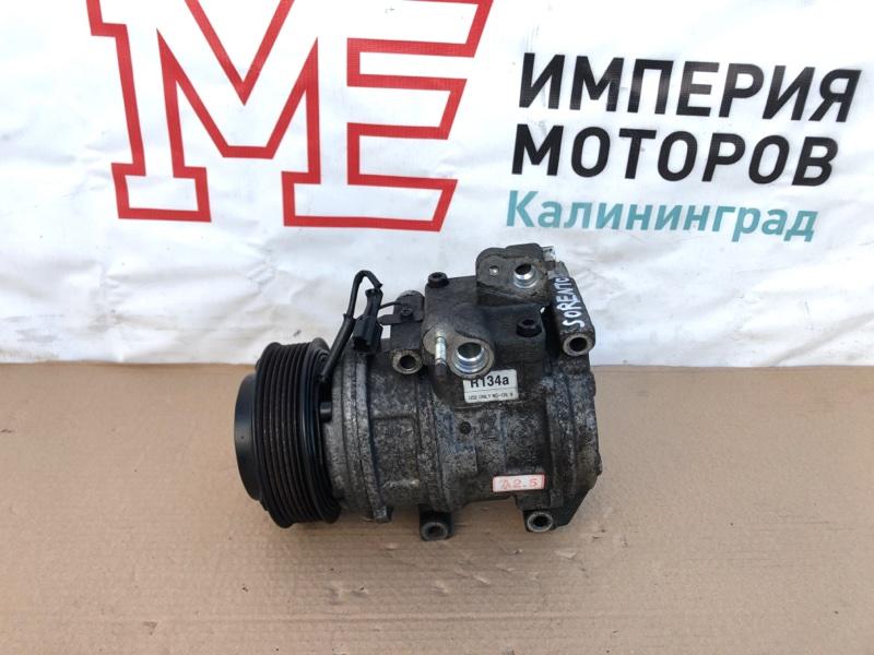 Компрессор кондиционера Kia Sorento I JC 2002-2010 2.5 D4CB 140ЛС 2004