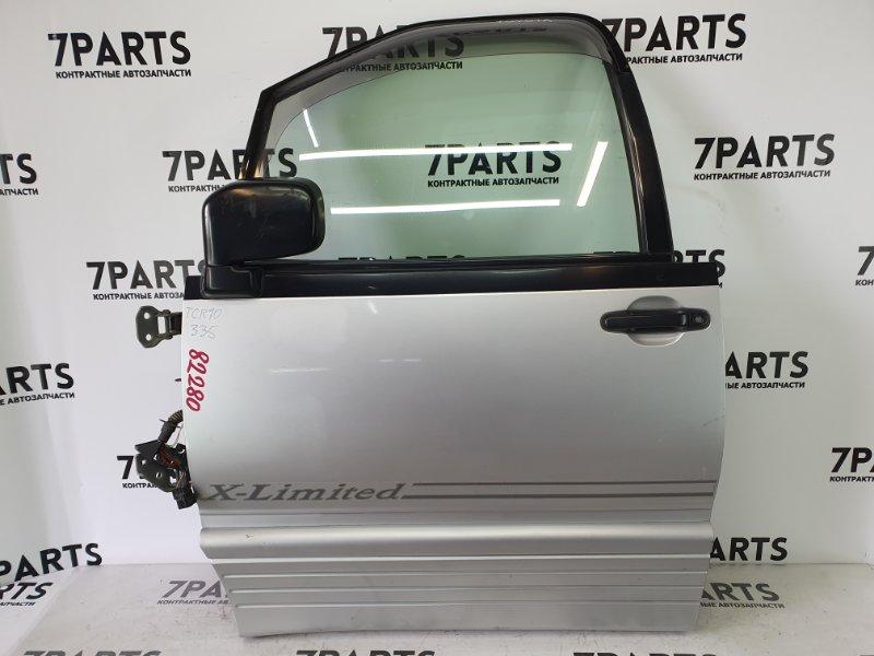 Дверь Toyota Estima Lucida TCR10 2TZFE 1997 передняя левая