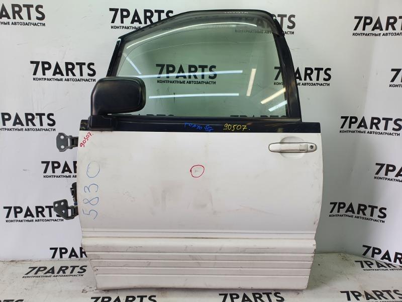Дверь Toyota Estima Lucida TCR10 2TZFE 1998 передняя левая