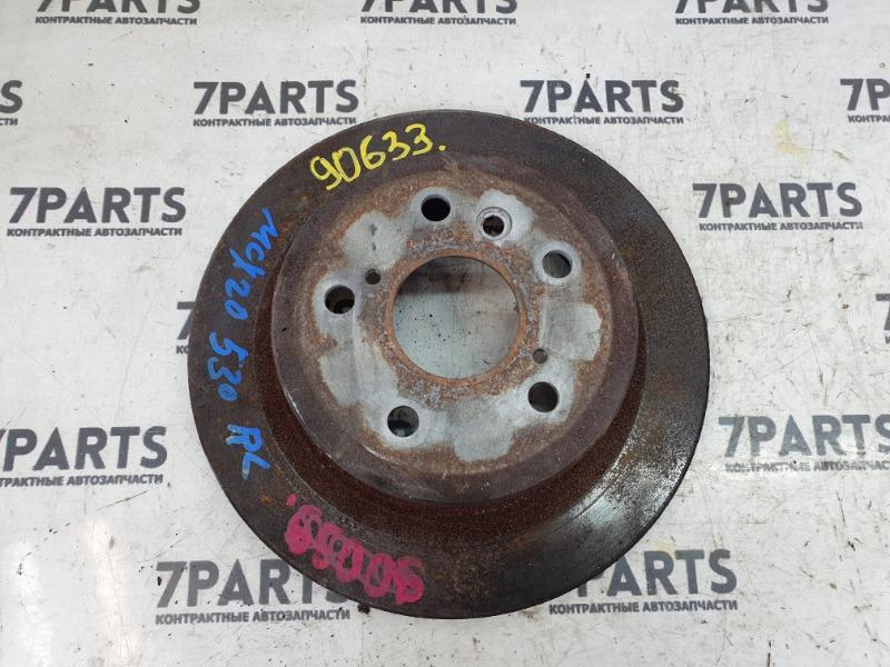 Тормозной диск Toyota Pronard MCX20 1MZFE 2001 задний