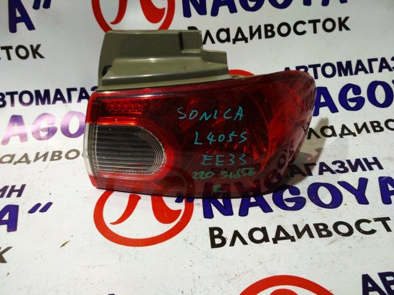 Стоп-сигнал Daihatsu Sonica L405S задний правый 220-51856