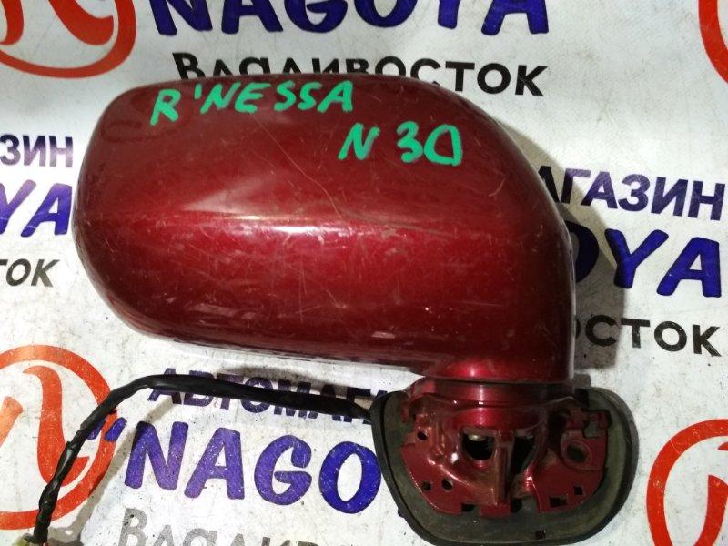 Зеркало Nissan Rnessa N30 переднее правое 5 KOHTAKTOB