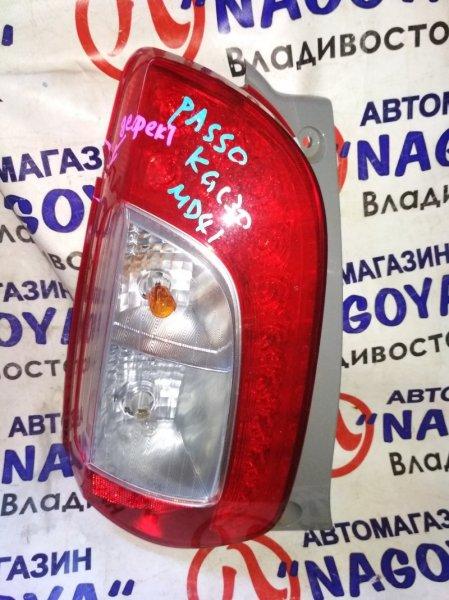 Стоп-сигнал Toyota Passo KGC30 задний левый 220-51397