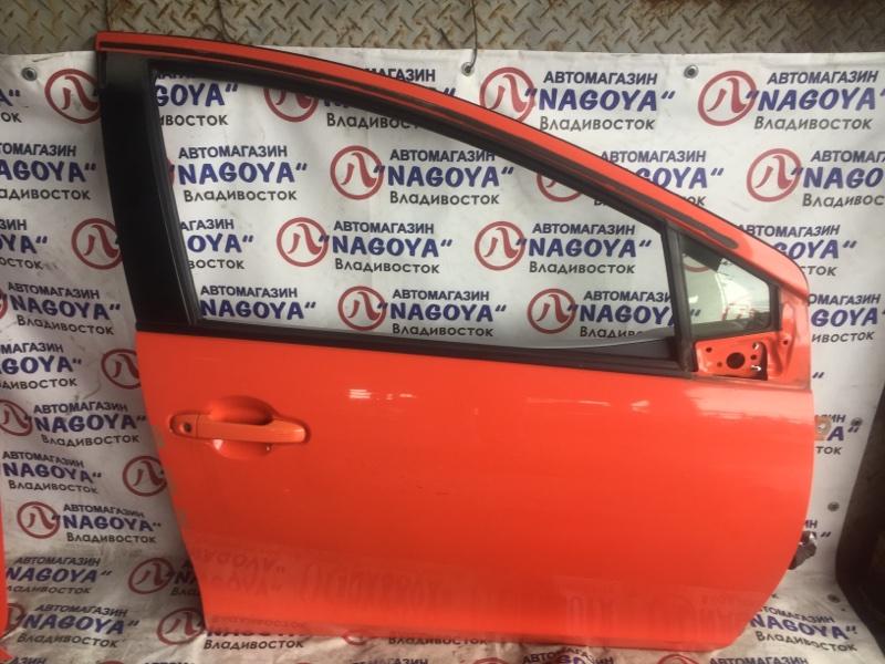 Дверь Toyota Aqua NHP10 передняя правая COLOR 4V7