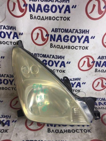 Фара Toyota Opa ZCT10 передняя правая 63-5