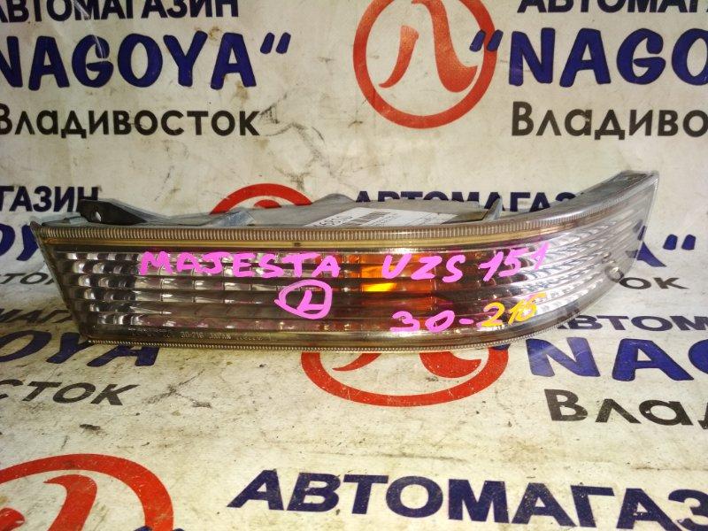 Повторитель бамперный Toyota Crown Majesta UZS151 передний левый 30216