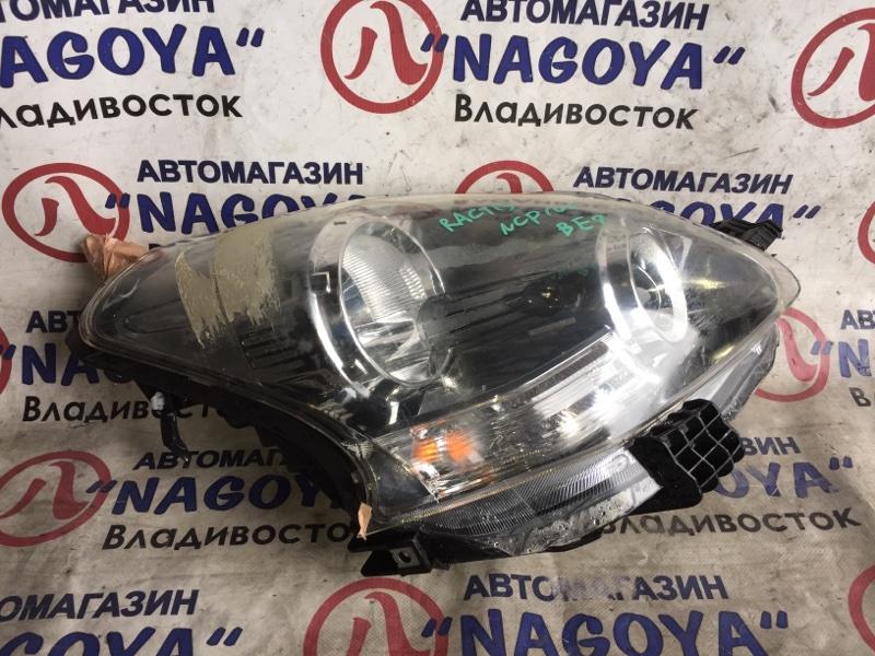 Фара Toyota Ractis NCP100 передняя правая 52190