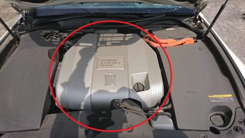 Крышка двс декоративная Toyota Crown GWS204 2GR-FSE HYBRID