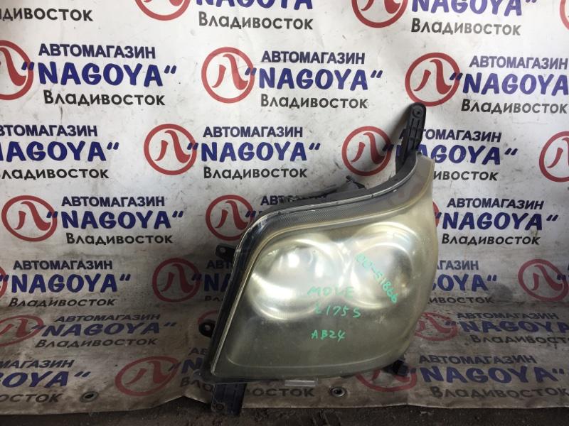 Фара Daihatsu Move L175 передняя левая 100-51866