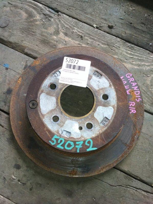Тормозной диск Mitsubishi Grandis NA4W задний