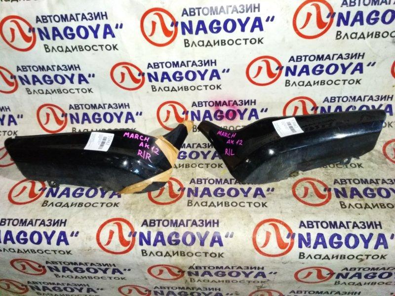 Клык бампера Nissan March AK12 задний правый