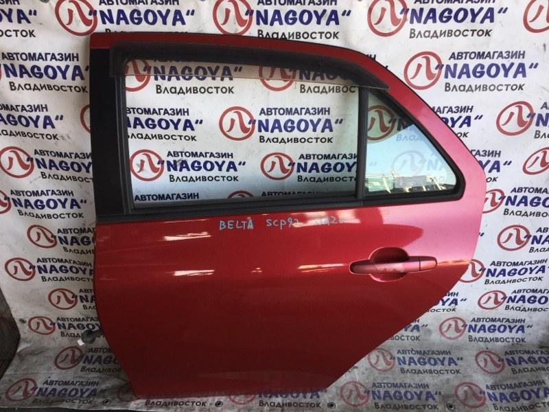 Дверь Toyota Belta SCP92 задняя левая COLOR 3R3