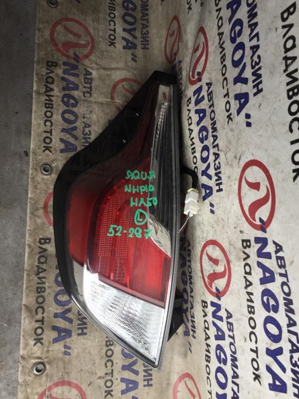 Стоп-сигнал Toyota Aqua NHP10 задний левый 52297