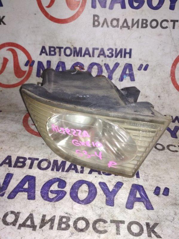 Туманка Toyota Altezza GXE10 передняя правая 53-4