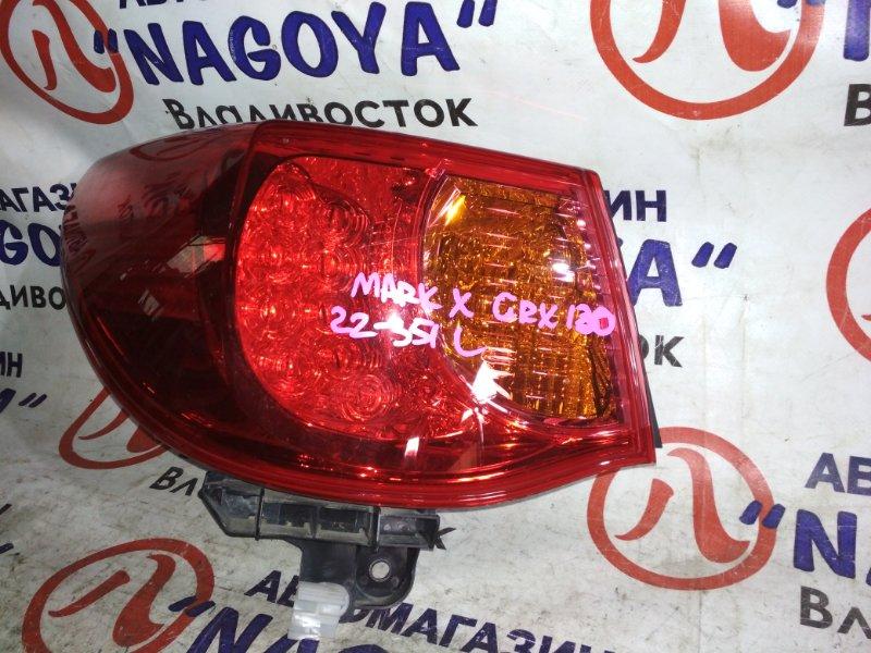 Стоп-сигнал Toyota Mark X GRX130 задний левый 22351