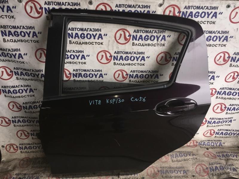 Дверь Toyota Vitz KSP130 задняя левая COLOR 3R9