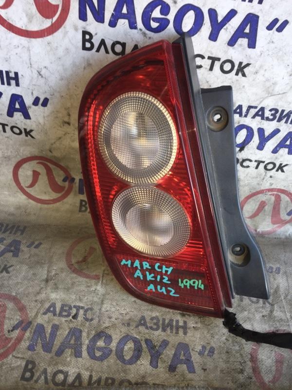 Стоп-сигнал Nissan March AK12 задний левый 4994