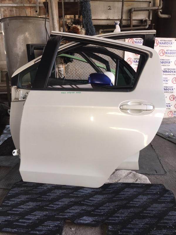 Дверь Toyota Vitz NSP130 задняя левая COLOR 070
