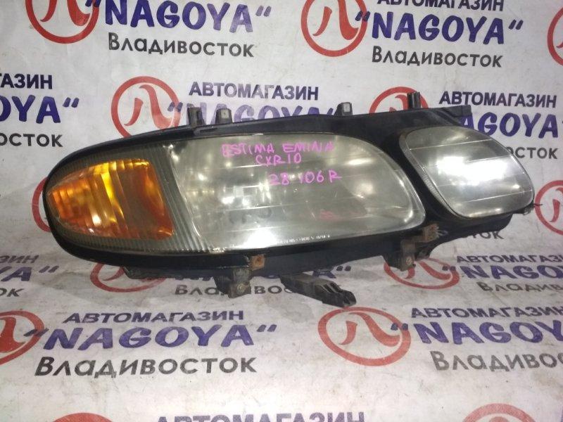 Фара Toyota Estima Emina CXR10 передняя правая 28106