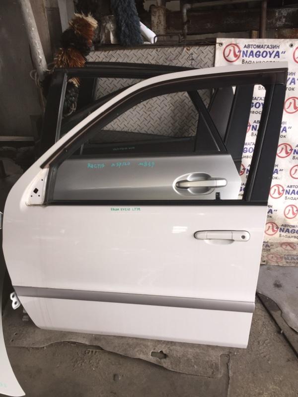 Дверь Toyota Raum EXZ10 передняя левая COLOR 049