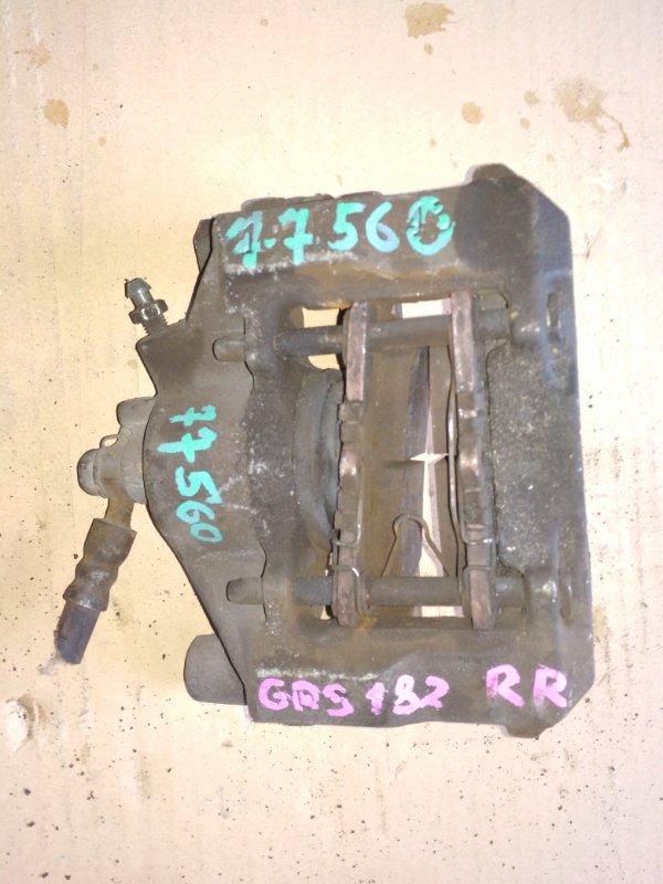Суппорт Toyota Crown GRS182 задний правый