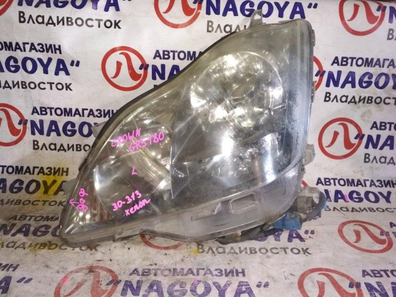 Фара Toyota Crown GRS180 передняя левая 30313