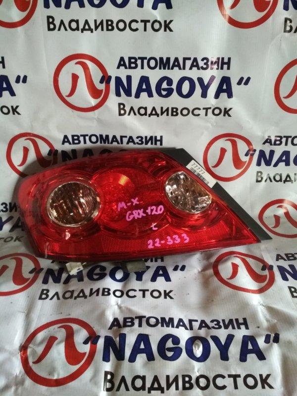 Стоп-сигнал Toyota Mark X GRX120 задний левый 22333
