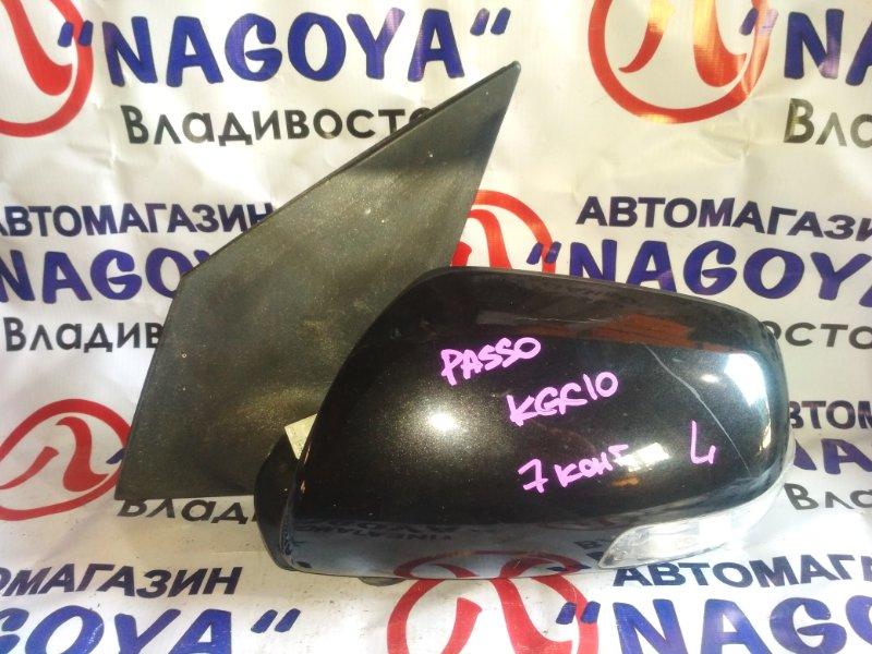 Зеркало Toyota Passo KGC10 переднее левое 7 KOHTAKTOB