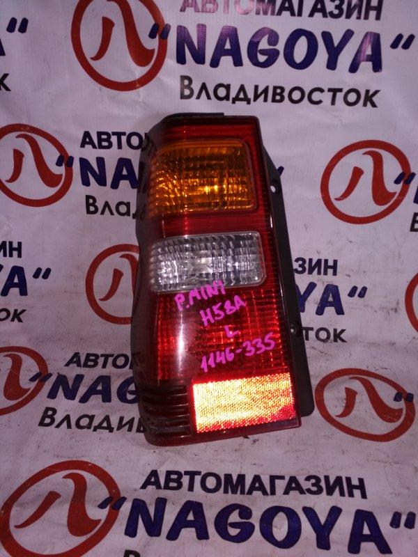 Стоп-сигнал Mitsubishi Pajero Mini H58A задний левый 1146-335