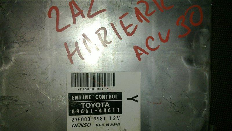 Блок управления efi Toyota Harrier ACU30